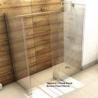 Jupiter Mercury 1700 x 900mm Walk-in Shower Wet Room Pack & Tray- 10mm Glass Panels Opt2